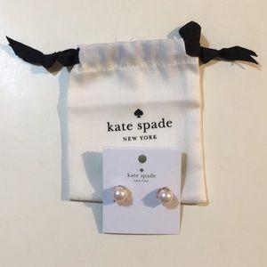 NWT Kate Spade Faux Pearl Earring Blush